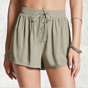 Forever 21 Lace Up Shorts